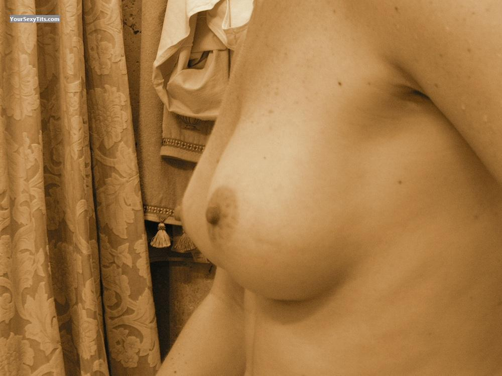 Tit Flash: Wife's Medium Tits - Liz from Spain